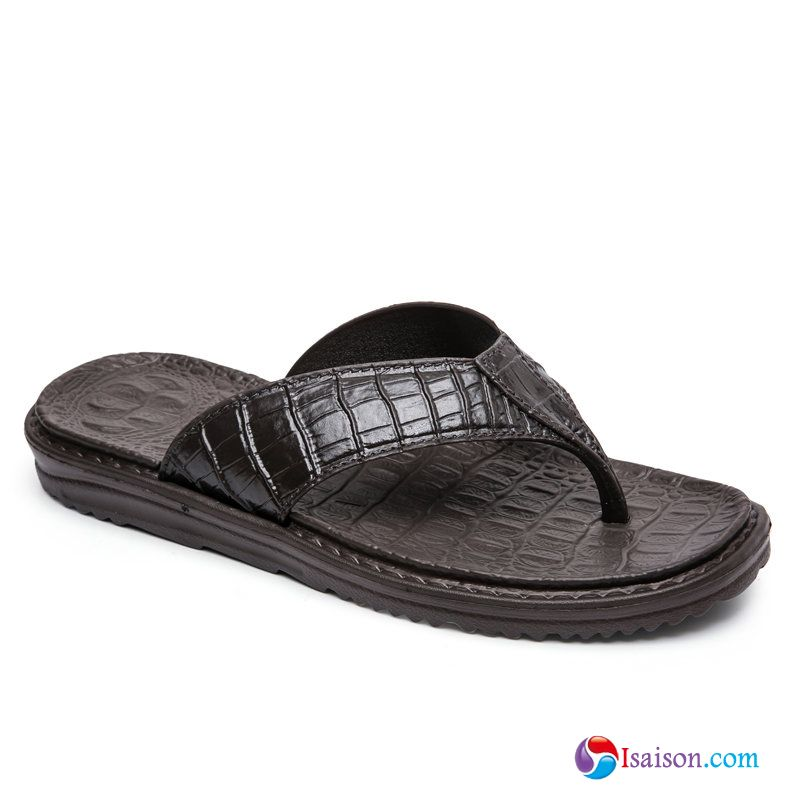 Plage Personnalité Antidérapant Tendance Crocodile Homme Tongs Chaussons Bisque Tongs