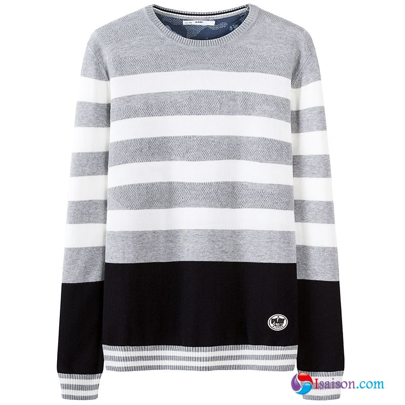 Tricots En Maille Pullovers Printemps Jeunesse Tendance Pull Homme Col Rond Pulls Pas Cher
